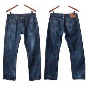 Levi's Men's Blue Jeans 514 Slim Straight 33 x 32